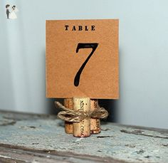 Rustic Wine Corks Wedding Table Number, Rustic Wedding Table Numbers, Chic Wedding Table Decor - Wedding table decor (*Amazon Partner-Link)