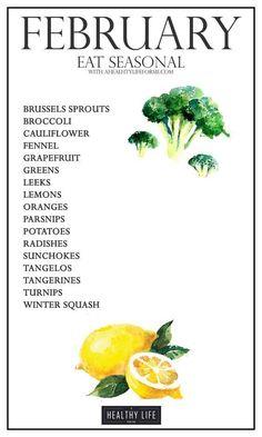 Seasonal fruits and veggies list - healthy eating- paleo - AIP-
