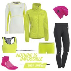 "Nothing is Impossible!  2 of 5 looks from our ""Vibrant Outdoor Training-series"" Spring 2014  http://www.karitraa.com/all-products/featured/look-2.html"