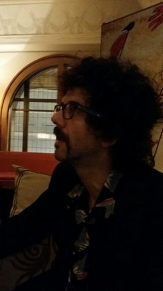 Went to last night with chums. Heres Frankie Poullain (Darkness bass) reflecting on the fab interior styling. The band are in the middle of recording their fourth album which. Last Night, Darkness, British, Christian, Portrait, Interior Styling, Bass, People, Middle