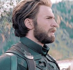 Steve Rogers, Steven Grant Rogers, Chris Evans Captain America, Grunge Hair, Most Beautiful Man, Marvel Movies, Haircuts For Men, Avengers, Hair Cuts