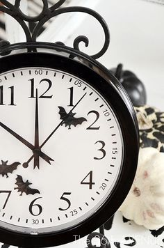 Halloween Clock idea...super cute!!