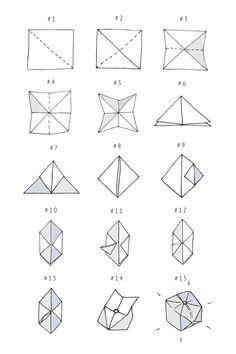 DIY: origami cube