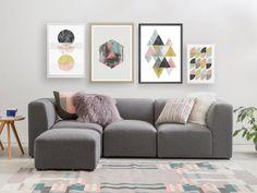 scandinavian design, nordic art, minimalist print, geometric art, wall decor, wall art, botanical poster, abstract print, pink wall decor, modern art
