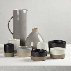 mixing unglazed and glazed | Les Guimards Pottery from the Darkroom in London | Remodelista