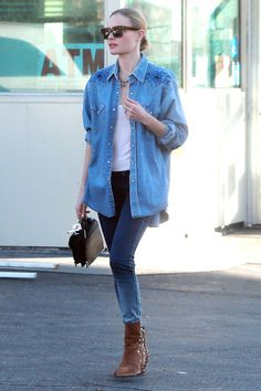 Kate Bosworth in denim. Image via Harper's BAZAAR
