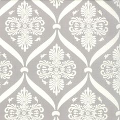 Moda Jubilee Pale Grey Bunny Damask  1 yard by MaggieAnne on Etsy