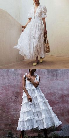 choice for your vacation wear, casual beeautiful style and supper comfy material, plus size dress you will love it. Shop now! White Fashion, Boho Fashion, Fashion Dresses, Travel Fashion, Womens Fashion, Pretty Dresses, Beautiful Dresses, Mode Boho, Vacation Wear