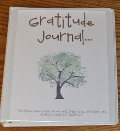 Gratitude Journal. A great gift to give at Thanksgiving :)