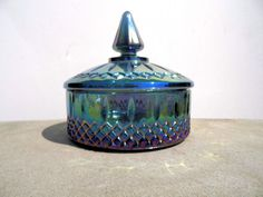 Vintage Carnival Glass Carnival Glass Candy by PaperWoodVintage, $23.00