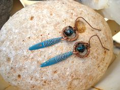Vintaj Patina Boho Style Antique Copper and Teal Dangle Earrings by Beads4You2008 on Etsy https://www.etsy.com/listing/264326399/vintaj-patina-boho-style-antique-copper