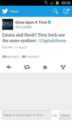Be still my Captain Swan shipping heart... :)