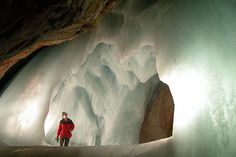 Ice cave, Austria