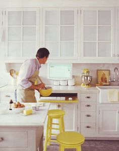 perfect touches of happy yellow, from Martha Stewart Living Magazine