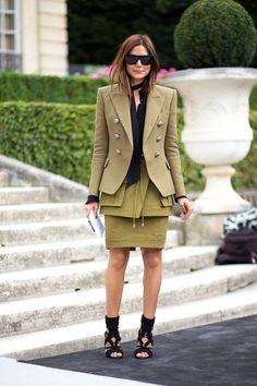 Couture Week. Christine Centenera (Balmain) Street Style Fall 2014