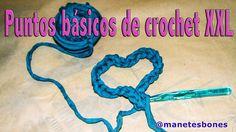 Puntos básicos de crochet XXL o ganchillo | Tutorial DIY
