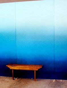 decoracao barata parede ombre