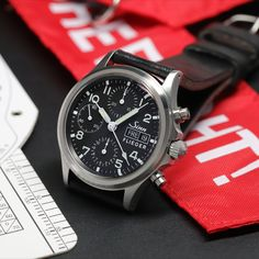 The traditional chronograph with sapphire crystal glass. Dream Watches, Tackle Box, Fishing Rod, Luxury Watches For Men, Chronograph, Pilot, Sapphire, Times, Traditional