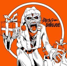 PARDO DIBUJOS: IRON MAIDEN Christmas PARDO dibujos