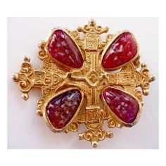 Accessocraft Maltese cross pin brooch ($225) ❤ liked on Polyvore featuring jewelry, brooches, pin jewelry, maltese cross brooch, vintage jewelry, vintage pins brooches and vintage jewellery