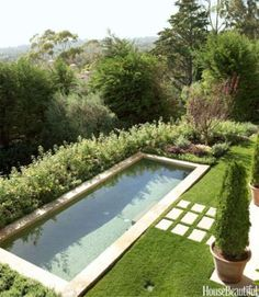 For a Tuscan-style house in Santa Barbara, designer Joe Nye lined the pool in mosaic tile. - Luca Trovato