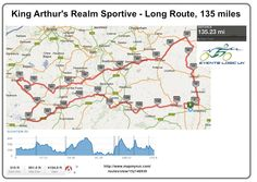 King Arthur's Realm Sportive 130 mile route | Events Logic UK | Be Part Of It!