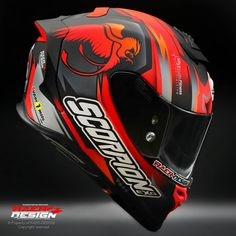 New helmet for the pilot 🦅🔥 Motorcycle Helmet Design, New Helmet, Atv, Cars And Motorcycles, Pilot, Bike, Scorpion, Buckets, Art Work