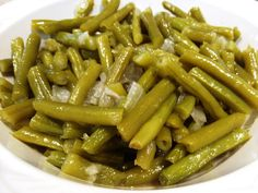 First recipe I have seen that is almost like my mom and Granny's Green Beans.  Yummy, my favorite!!