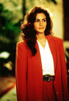 Julia Roberts' 'Pretty Woman' Character Originally Overdosed, Died julia roberts pretty woman red jacket - Woman Jackets and Blazers Cheveux Julia Roberts, Julia Roberts Hair, Julia Roberts Style, Pretty Woman Film, 80s Suit, Costume Rouge, Pretty Woman Costume, 1990 Style, Richard Gere