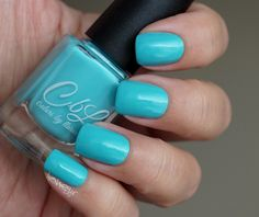 Annie - tiffany blue green creme from the CbL Overboard Summer 2015 collection. Pic taken indoors natural light.