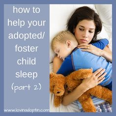 Ideas to help your adopted/foster child sleep (sleep issues part 2) www.lovinadoptin.com #adoption #fostercare