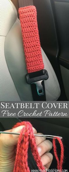 Seatbelt Cover Free Crochet Pattern http://hearthookhome.com/free-crochet-pattern-seatbelt-cover/?utm_campaign=coschedule&utm_source=pinterest&utm_medium=Ashlea%20K%20-%20Heart%2C%20Hook%2C%20Home&utm_content=Seatbelt%20Cover%20Free%20Crochet%20Pattern