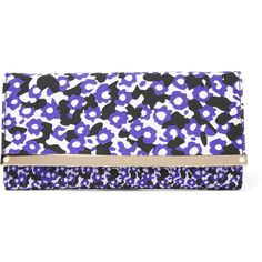 Jimmy Choo - Jacquard Clutch ($310) ❤ liked on Polyvore featuring bags, handbags, clutches, purple, embellished handbags, jimmy choo tote bag, purple handbags, jimmy choo purses and chain strap purse