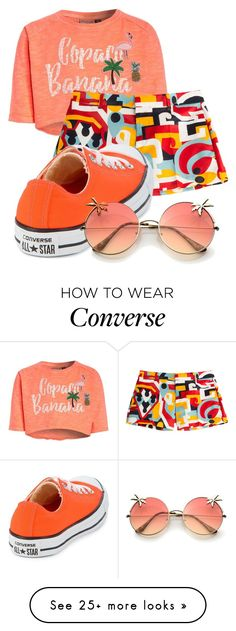 """""""Gina"""" by heavenlydevonlea on Polyvore featuring Dsquared2 and Converse"""