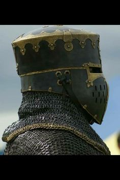 10-12 century riveted Mail armour and crusader era helmet