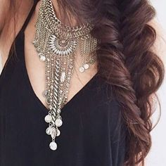 Boho Bohemian Statement Necklace - Happiness Boutique#ootd #fashion -  22,90 € @happinessboutique.com