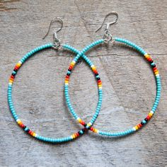 Hoop Earrings Turquoise now featured on Fab.