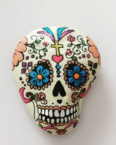 Obra encargada terminada! #mexicanskull#lacatrina#vivalavida#arteobjeto#rockpainting