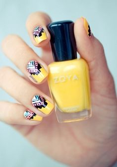Tribal nail art is trending on bloom.com