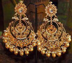 chandbali earrings - Google Search