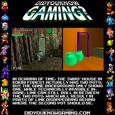 The Legend of Zelda: Ocarina of Time.  http://tcrf.net/The_Legend_of_Zelda:_Ocarina_of_Time#Hidden_Pot_in_Twins.27_House
