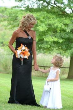 Harley Davidson Wedding ~ Black wedding dress