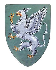 The Rampant Gryphon steel battle shields available in either a wall display version with a chain to hang it or a hand held, battle-ready version with heavy duty, leather straps on the back. Fantasy Creatures, Mythical Creatures, Mythological Animals, Medieval Shields, Shield Design, Fantasy Images, Antique Maps, Coat Of Arms, Larp