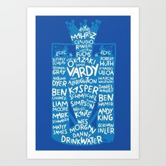 Leicester City Typographic Poster EPL Champions 2015/2016 #leicester #leicestercity #premierleague #champions
