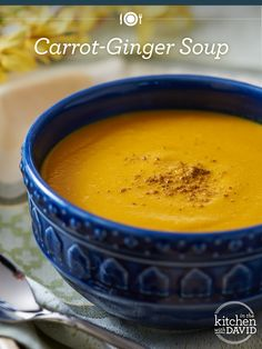 Warm up with David's Carrot-Ginger soup!