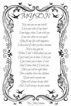 My son poem