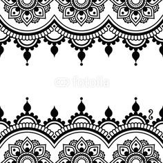 Vector: Mehndi, Indian Henna tattoo design - greetings card, lace ornament