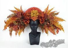 Autumn Goddess Headdress by Miss G Designs  etsy.com/shop/MissGDesignsShop  headpiece crown fairy