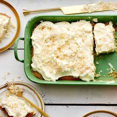 Coconut–Key Lime Sheet Cake