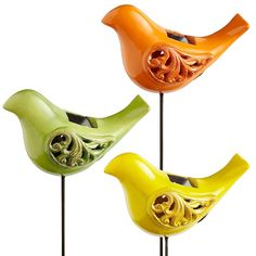 What's more adorable or energy-efficient than Solar Bird Stakes?